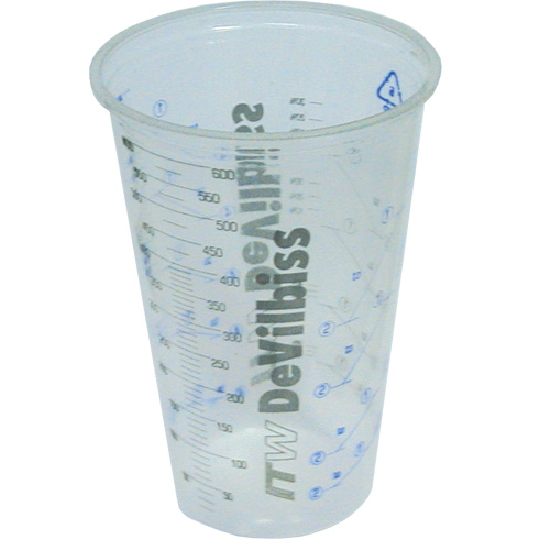 Pk50 600mL 2Pack Measure Cups-Devilbiss AMDEMCI-K50