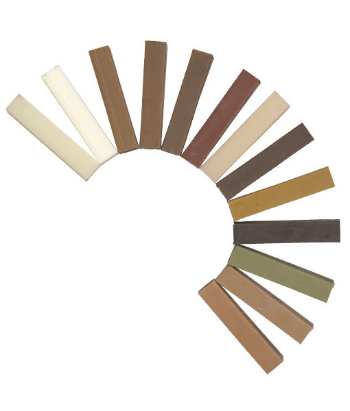 Coloured Timber waxsticks AMWS1-11