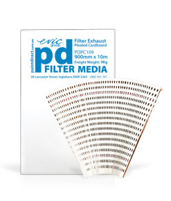 900mm X 10m Pleated Cardboard Spray Booth Filter PDPC109
