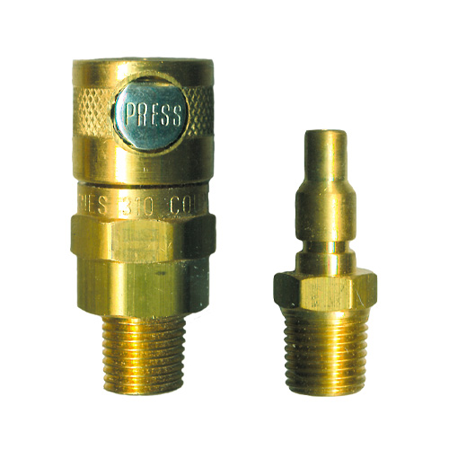 """1/4"""" Single Button MALE Coupling & Adapter"""