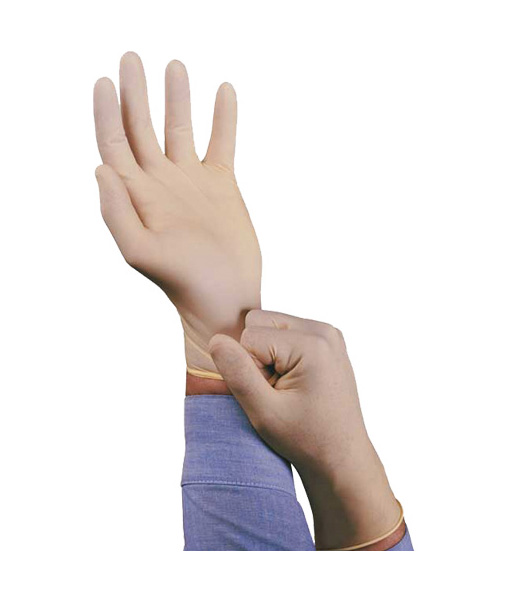 Disposable Lightly Powdered Natural Latex Gloves